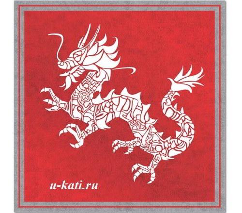 коврик дракон
