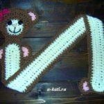 Детский шарфик крючком «Мишка», описание вязания