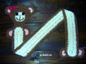 детский вязаный шарф крючком